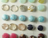 35 cabs 9 - 11 mm Round Cabochons, rare and scarce, natural, ring size, small cab, min order 2 cabs , price is for 1 cab (SC2371)