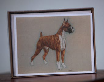 25% OFF Boxer Dog Stationary Cards With Envelopes
