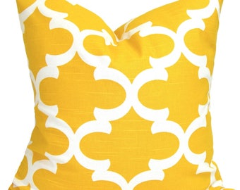 Yellow Pillow, Yellow Pillows, 18x18. Yellow Pillow Cover, Decorative Pillow, Yellow Throw Pillow, All Sizes, Yellow Euro, Yellow Cushion
