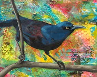 Ready Grackle Original 24x24 painting