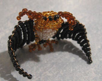 Miniature bat beads and copper wire
