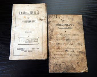 1941 Chevrolet Passenger Cars Owners Manuals