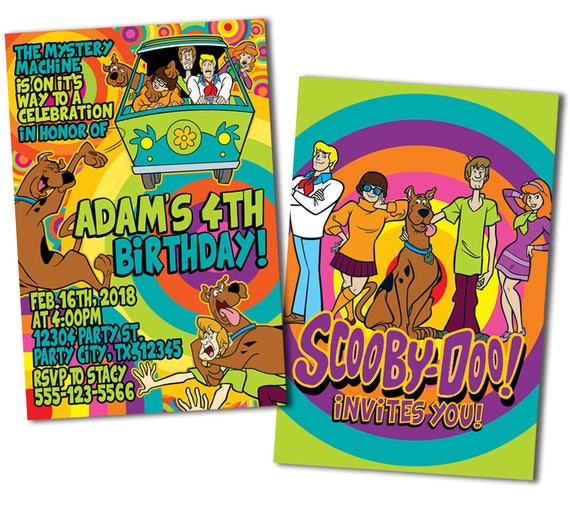 Scooby Doo Birthday Invitations by MetroDesigns Graphic Design