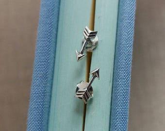 Tiny Silver Arrow Studs, Sterling Silver Arrow Earrings, Arrow Earrings, Arrow Studs, Everyday Earrings, Arrow Jewellery, Everyday Simple