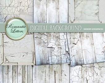 Sale 60% White Wood Texture digital paper pack Scrapbook Papers digital photo backdrops background paper distressed painted wood wedding bac