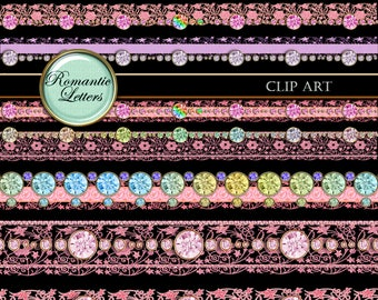 Diamond border png etsy for Border lace glam