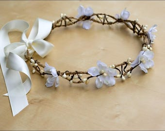 Flower Crown wedding (ivory & white): Lucy