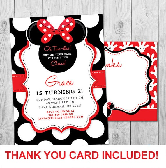 Minnie mouse birthday invitations printable girls party invitation il570xn filmwisefo