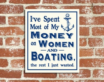 Nautical Boating Wood Sign