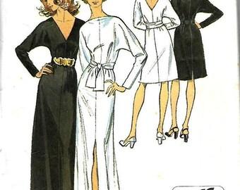 9f62da5e6 ON SALE VTG Simplicity 5363 Misses Jiffy Stretch Knit Dress And Sash  Pattern