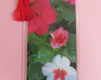 Impatiens floral flower bookmark print only one available