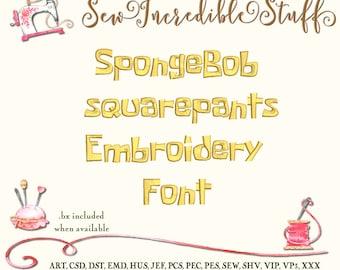 SpongeBob Machine Embroidery font