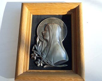 Vintage Metal Mary 3D Wall Hangings Religious Wall Art
