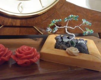 Hand beaded bonsai tree