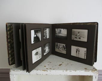 Album photos complet français antique, 96 photos, 1930, Vintage, vieux papier, éphémères, France, Album photo