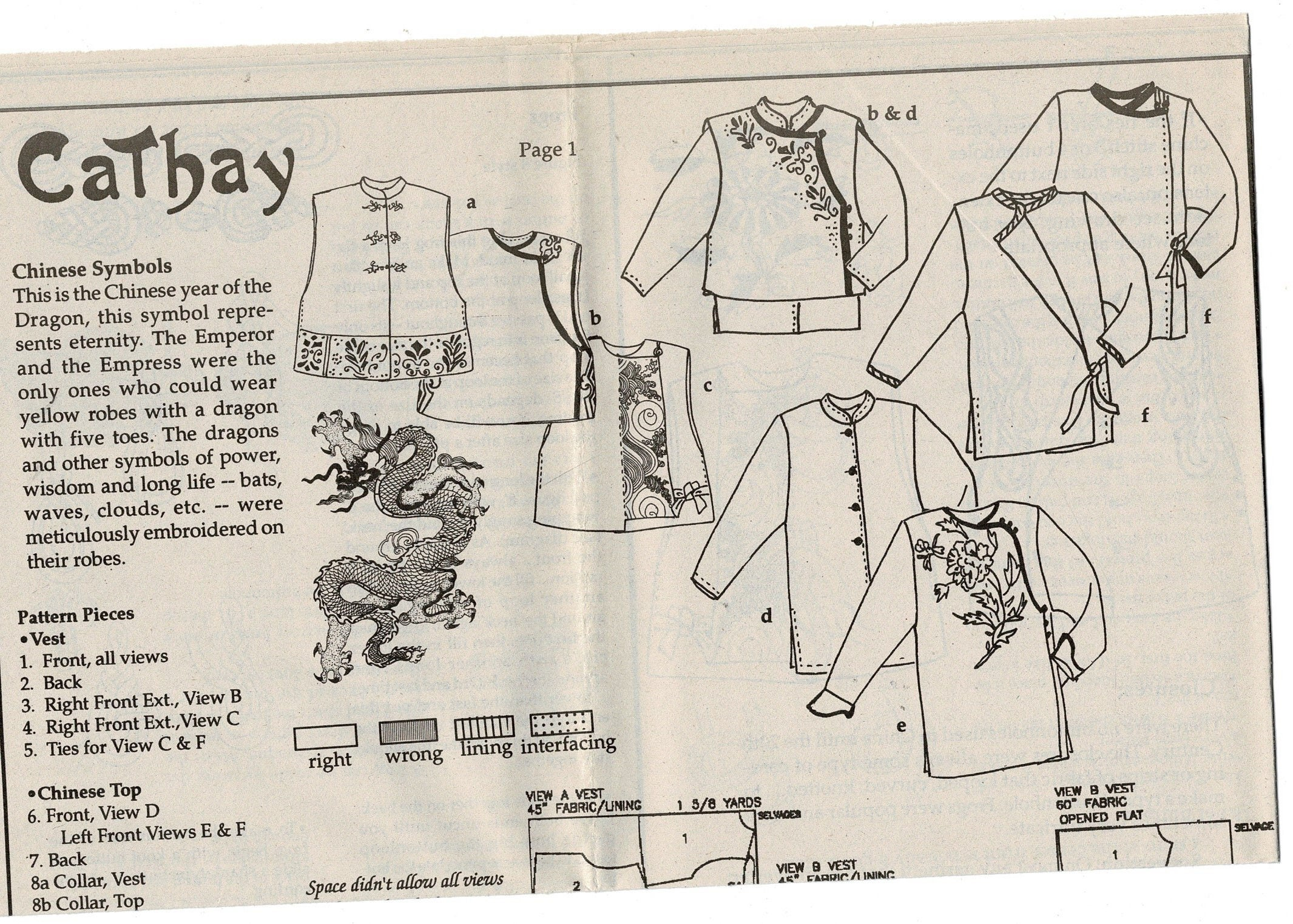 Uncut cathay 330 chinese style vest sewing pattern top jacket sold by hermionescloset jeuxipadfo Image collections