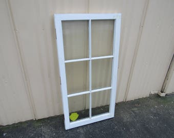 Handcrafted Antique Exterior True Divided Window Type C 48in x 24in Wood