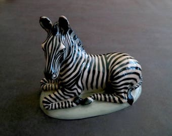 Wonderful Vintage Zebra Pottery From Artist Dave Archers Personal Collection