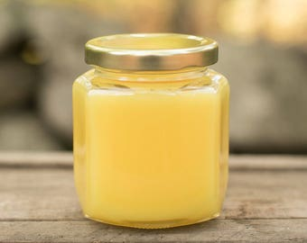 Cool Citrus Basil Scented Yellow Candle
