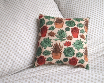 handmade succulent pattern small scatter cushion