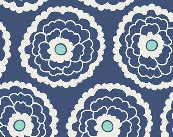 Girl About Town Navy - 1 yard