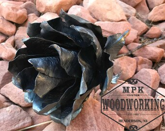 Metal rose Steel Rose Large flower Gorgeous gift for someone special