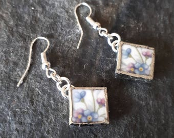 Broken China Jewellery Earrings