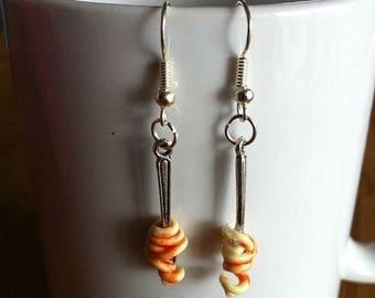 Spaghetti Bolognese fork earrings