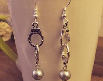 50 shades of Grey handcuff earrings