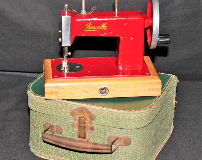 Antique Rossella Miniature Sewing Machine, Toy Sewing Machine