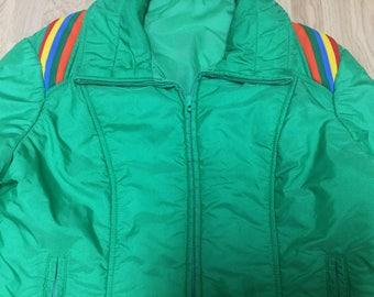 Vintage Ski Jacket / Ski Jacket / Green Ski Coat / 1970's Ski Coat