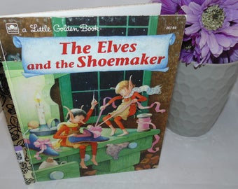 Vintage Little golden Book The Elves and the Shoemaker 1983