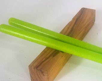 Lime Green acrylic hair stick (choose 1 or more)