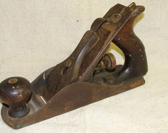 Early 1900's Stanley No. 4C Plane, Corrogated Base, has 1870 W. Butcher Signed Blade Still Sharp!