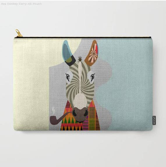 Donkey Coin Purse, Donkey Pouch, Donkey Wallet,  Donkey Gifts,  Donkey Zipper Pouch,  Donkey Lovers Gift,  Donkey Purse