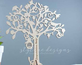 Jewellery Tree Stand - Wood Jewellery Stand - Wooden Jewellery Display - Wood Tree Display - Wooden Jewellery Organizer