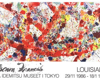 Sam Francis-Polar Red-1986 Poster