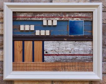Fastlane - wood and tile assemblage
