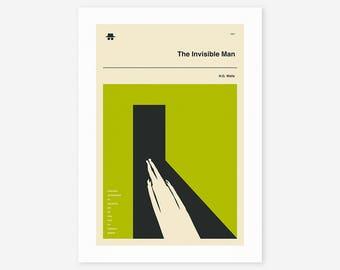 THE INVISIBLE MAN (Giclée Fine Art Print/Photo Print/Poster Print) Green version