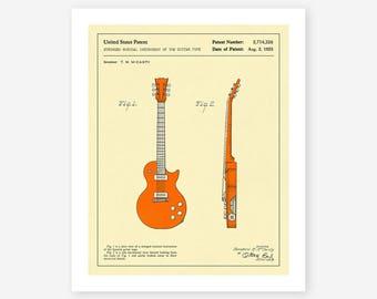 GUITAR 1955 (Giclée Fine Art Print, Photo Print or Poster Print)