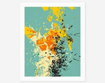 CRASH (Giclée Fine art Print) Modern Abstract Wall Art