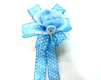 Baby boy gift bow, New baby bow, Baby shower decoration, Large gift wrapping bow, Blue baby bow, Gift bow for new moms, Its a Boy bow