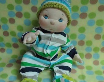 "Fretta's Cookie Dough Baby, OOAK life size 48 cm/19"" Soft Sculpt Organic Cotton Empathy Doll. Child-Safe Textile Baby Doll"