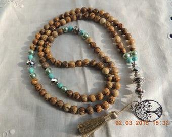 108 bead Mala /  Mens Protective  Mala- Buddhist Prayer Beads - Mala necklace, Wrist Mala / bracelet for followers of  Buddhism