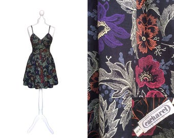 Vintage Cacharel Dress - 90's Dress - Floral Dress - French Designer Sundress