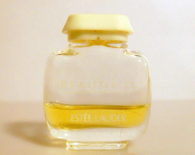 Vintage 1980s Beautiful by Estee Lauder  0.12 oz Parfum Splash Miniature Perfume Bottle