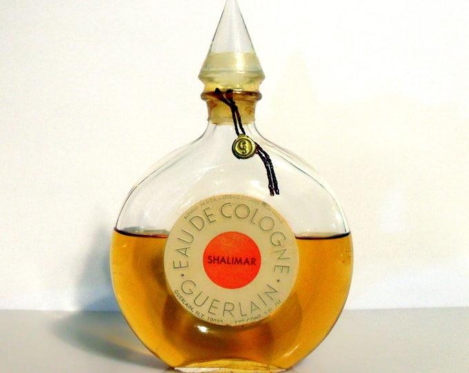 Vintage 1950s Shalimar by Guerlain 3 oz  Eau de Cologne Splash Sealed PERFUME