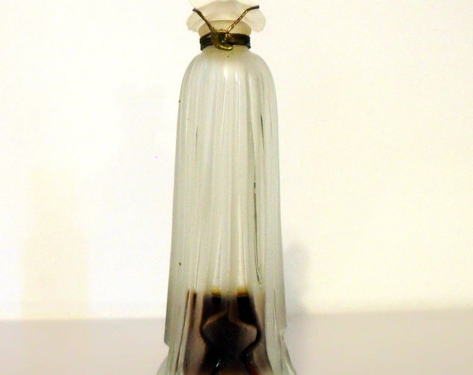 Antique Perfume Vintage 1930s Indiscret by Lucien Lelong 0.25 oz Pure Parfum Frosted Glass Bottle Sealed