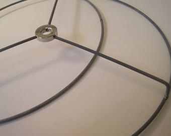 Lampshade ring etsy round nickel silver diy lampshade lamp shade ring set 18 inch keyboard keysfo Images