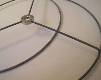 Lampshade rings etsy round nickel silver diy lampshade lamp shade ring set 18 inch greentooth Images